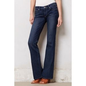 PAIGE 28 Jeans Skyline Boot Cut Dark Wash Distress